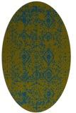 rug #1103618 | oval green traditional rug