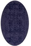 rug #1103626 | oval blue-violet borders rug