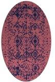 rug #1103634 | oval blue-violet traditional rug