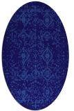 rug #1103642 | oval blue-violet traditional rug