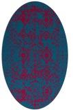 rug #1103663 | oval damask rug