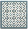 rug #110369 | square blue-green borders rug