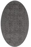 rug #1103690 | oval brown rug