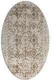 rug #1103694 | oval beige damask rug