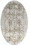 rug #1103698 | oval white traditional rug