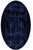 rug #1103738 | oval black traditional rug