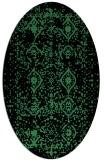 rug #1103740   oval faded rug