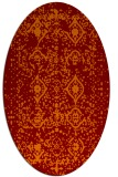 rug #1103742 | oval orange damask rug