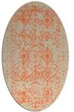 rug #1103750 | oval orange borders rug