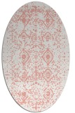 rug #1103770 | oval white faded rug