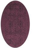 rug #1103774 | oval purple faded rug