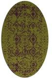 rug #1103778 | oval purple damask rug