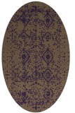 rug #1103782 | oval purple rug