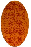 rug #1103794 | oval red traditional rug
