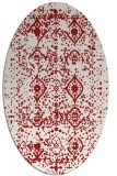 rug #1103798 | oval red traditional rug