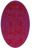rug #1103802 | oval red traditional rug