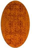 rug #1103806   oval red-orange borders rug