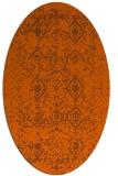 rug #1103814   oval red-orange faded rug