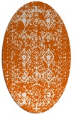 rug #1103818 | oval red-orange damask rug