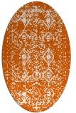 rug #1103818 | oval red-orange borders rug