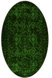 rug #1103822 | oval green traditional rug