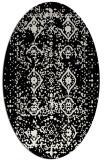 rug #1103826 | oval white traditional rug