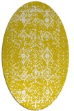 rug #1103830 | oval white faded rug