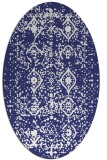rug #1103834   oval white faded rug