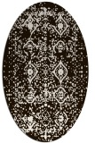 rug #1103838 | oval brown damask rug