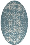 rug #1103846 | oval white faded rug