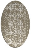 rug #1103850 | oval white faded rug