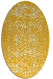 rug #1103854 | oval yellow faded rug