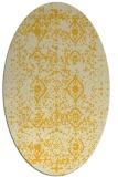 rug #1103855 | oval damask rug