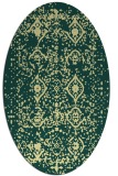 rug #1103870 | oval yellow traditional rug