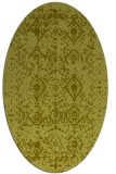 rug #1103874 | oval light-green rug