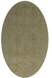 rug #1103878 | oval light-green rug