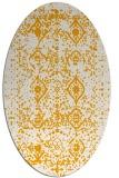 rug #1103890 | oval light-orange traditional rug