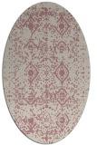 rug #1103894   oval pink damask rug