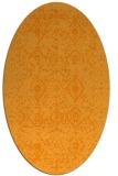 rug #1103898 | oval light-orange borders rug