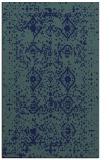 rug #1103946 |  blue-green damask rug
