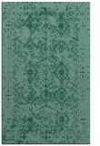 rug #1103962 |  blue-green damask rug