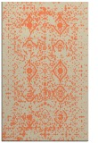 rug #1104118 |  orange damask rug