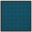 rug #110425 | square blue-green borders rug