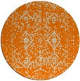 rug #1104274 | round beige damask rug