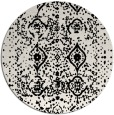 rug #1104278 | round black faded rug