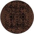 rug #1104290 | round brown borders rug