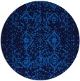 rug #1104306 | round blue faded rug