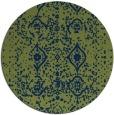 rug #1104318 | round green popular rug