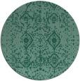 rug #1104330 | round blue-green borders rug