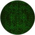 rug #1104334 | round green damask rug